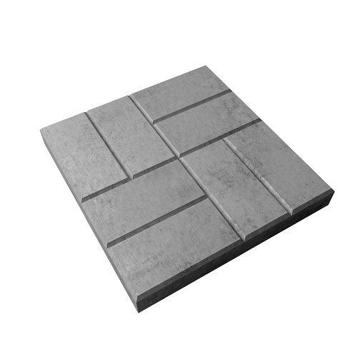 Тротуарная плитка 8 Кирпичей 400х400х50 мм вибролитья