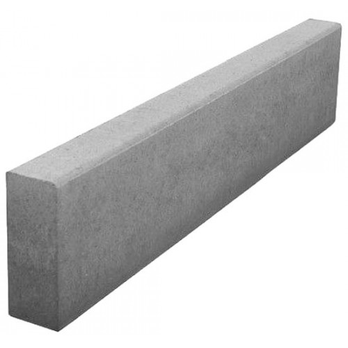Бордюрный камень садовый вибропрессованный 1000х200х80 мм
